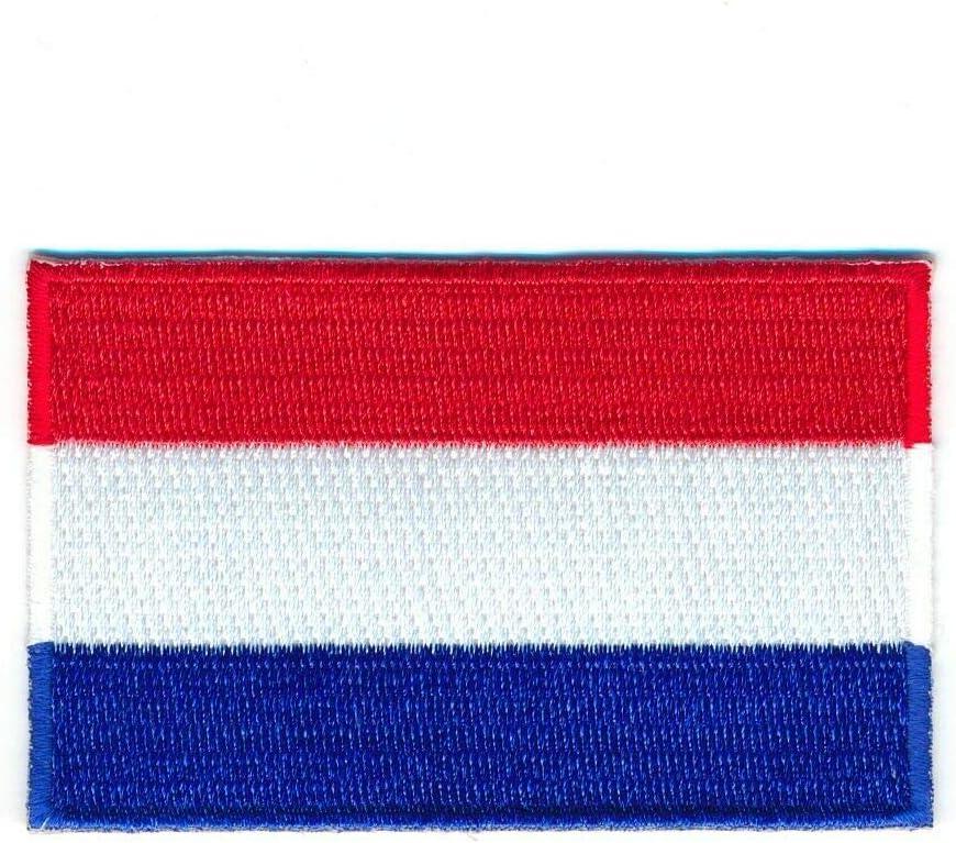 Hegibaer 40 X 25 Mm Niederlande Flagge Flag Amsterdam Patch Aufnäher Aufbügler 1000 A Auto