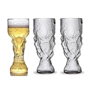 2X Jarra De Cerveza Cristal Trofeo Forma De Vidrio Vidrios De Vino Personalizados Jarras De Cerveza