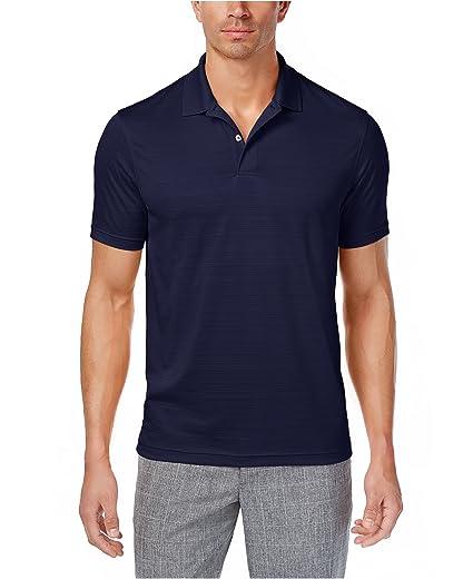 club room men s burn out stripe polo shirt navy blue x large tall rh amazon com