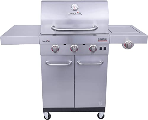Char-Broil 463342620 Signature TRU Infrared 3-Burner Cabinet Style Gas Grill, Stainless Steel