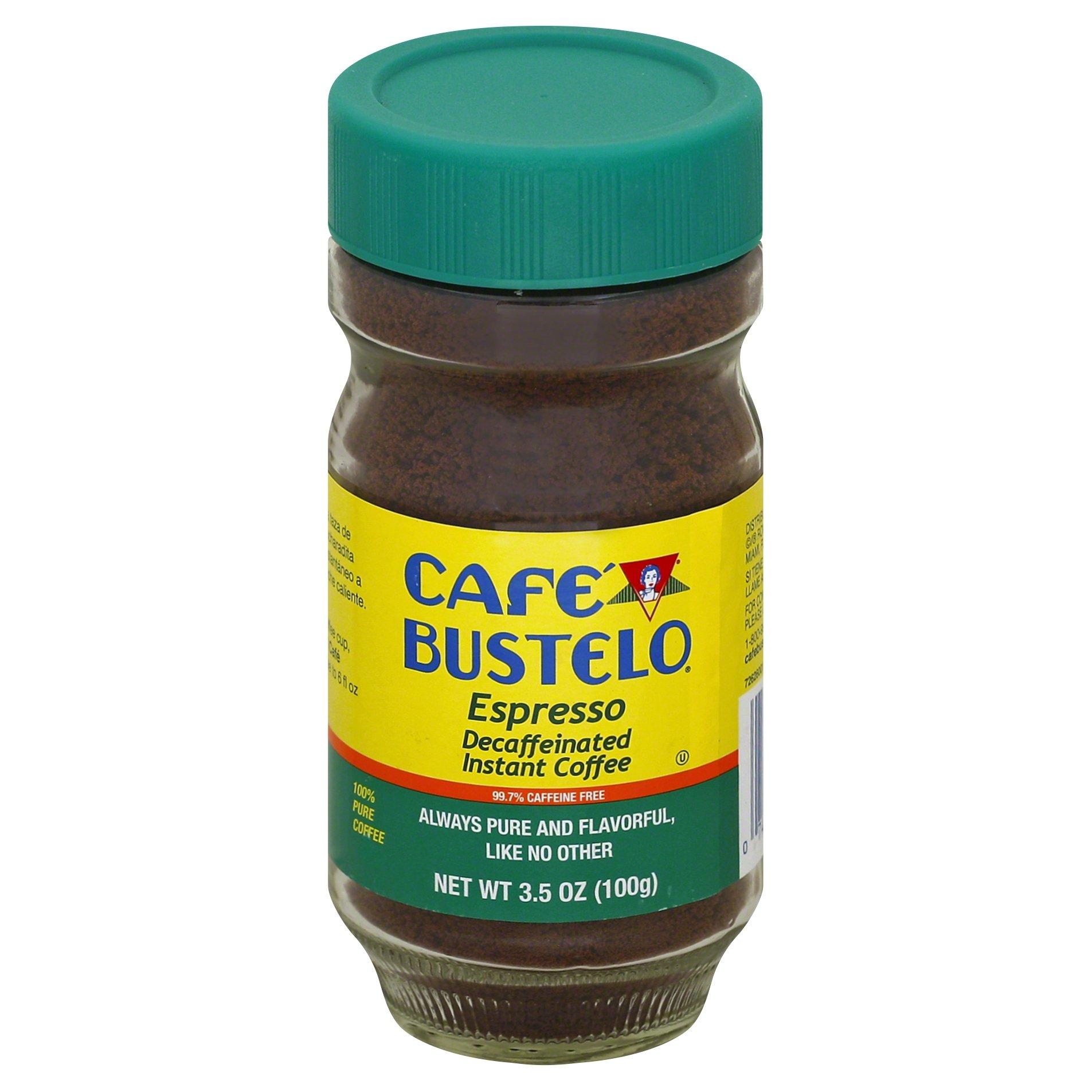 Café Bustelo Decaffeinated Instant Espresso 97 % Caffeine Free, 3.5-Ounce Jars (Pack of 4)