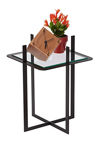 Decorative Glass Accent Table – Decorative Design Great for Indoor Outdoor Spaces