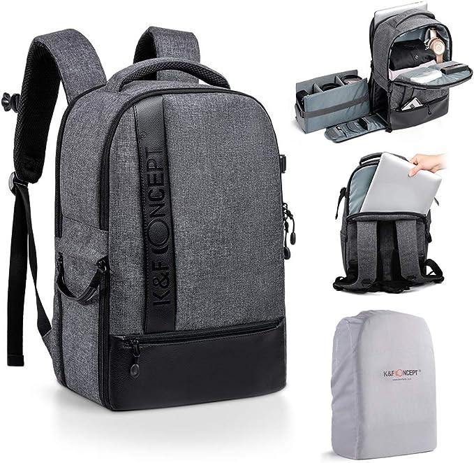 K F Concept Fotorucksack Kamerarucksack Für Spiegelreflexkamera Canon Nikon Sony Slr Und 14 Zoll Laptop Bekleidung