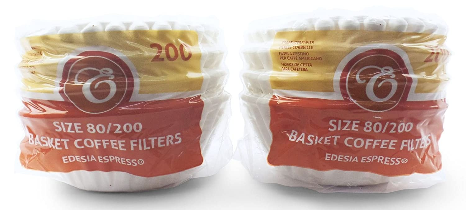 400 x 2 Pint/8 to 12 Cup Basket Coffee Filter Papers by EDESIA ESPRESS