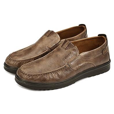 Gracosy Chaussures de Ville Homme, Mocassins en Cuir Microfibre Loafter  Bateau Slip On A Enfiler 80367b47639c