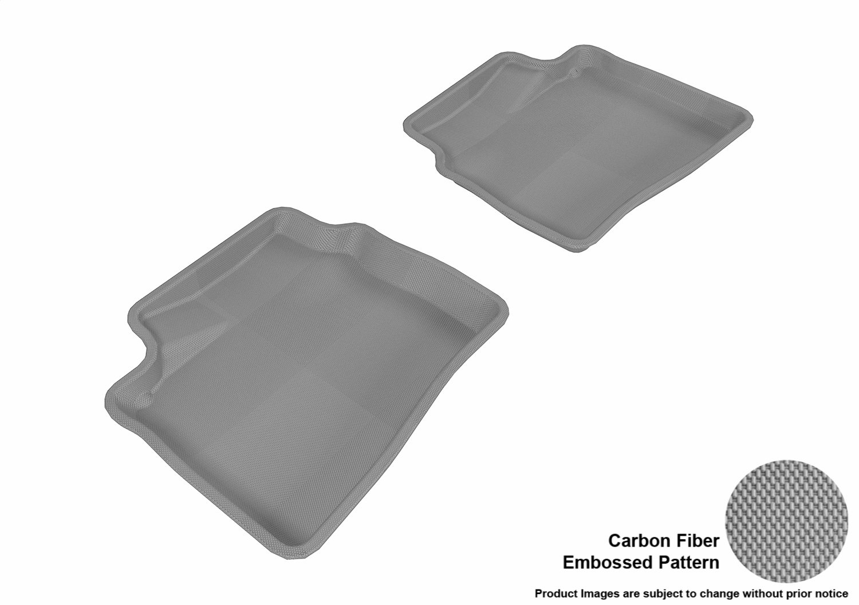 L1HY02921509 Black 3D MAXpider Second Row Custom Fit All-Weather Floor Mat for Select Hyundai Elantra Models Kagu Rubber