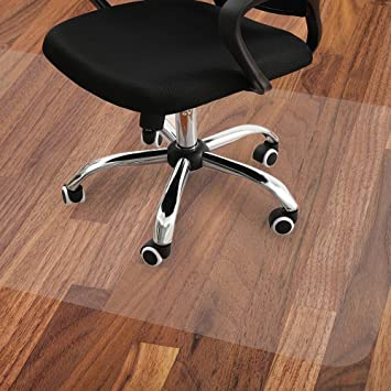 Amazon Com Office Chair Mat Large 47x35 Inches Protector For Under Rolling Computer Chairs Desk And Table Suitable For Hardwood Floors And Tiles Non Curve Easy Glide And Scuff Shield In Semi Clear