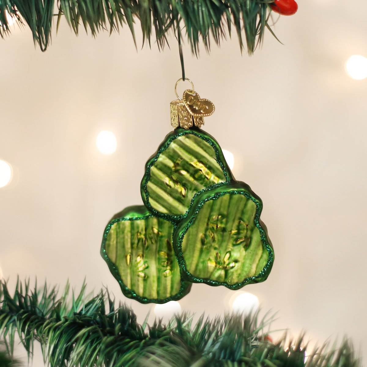 Amazon.com: Old World Christmas Ornaments: Pickle Glass Blown ...