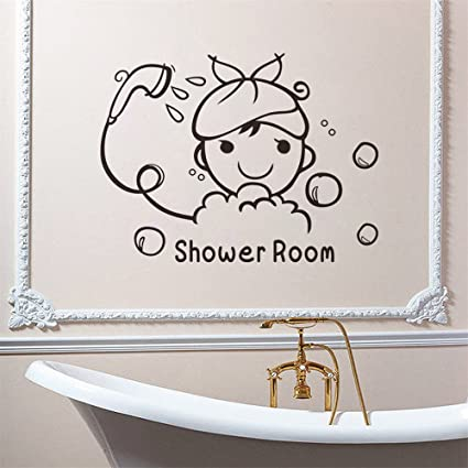 Amazon Com Thoothy Wall Sticker Quote Shower Room Quote Wall