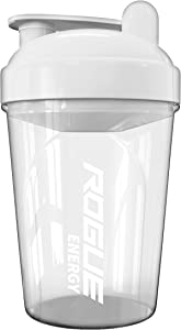 Rogue Energy Shaker Bottle   16-Ounce, 500ml, BPA Free, Dishwasher Safe, Clear and White (Showcase Edition)