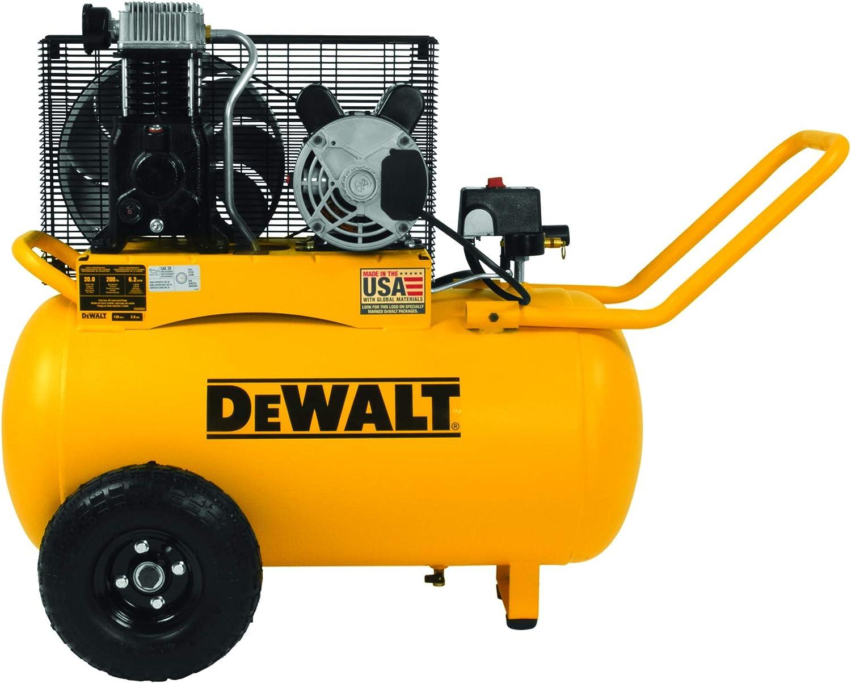 DeWalt 20加仑油润滑带式驱动电动空气压缩机