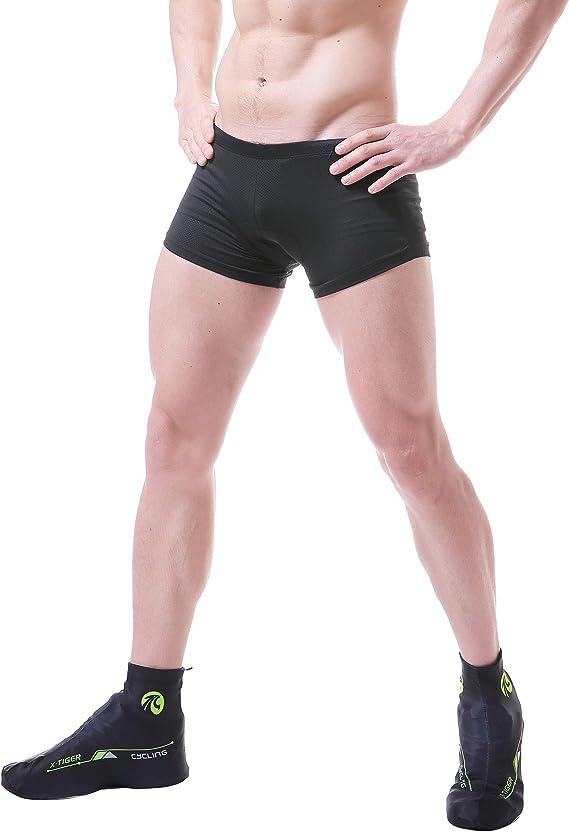 X-TIGER Ciclismo Uomo 5D Gel Imbottito Boxer Traspirante Biancheria Intimo Mutande Pantaloncini da Ciclismo Bici