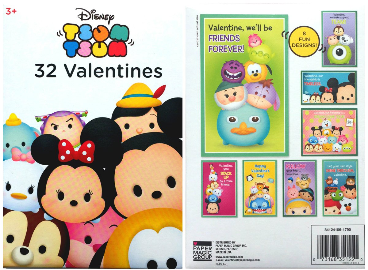 Amazon Disney Tsum Tsum 32 Fold And Seal Valentines Cards