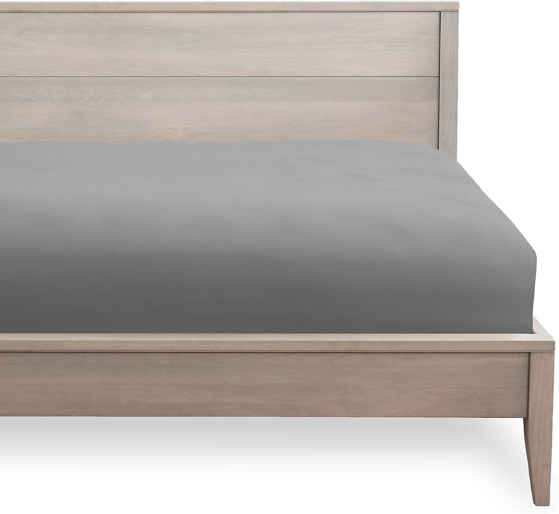 Bare Home Fitted Bottom Sheet Queen - Premium 1800 Ultra-Soft Wrinkle Resistant Microfiber - Hypoallergenic - Deep Pocket (Queen, Light Grey)