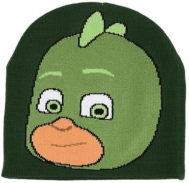 PJ Masks Héroes en Pijamas PJ02012 Gorro, Acrylic, Niño, Multicolores, Gecko