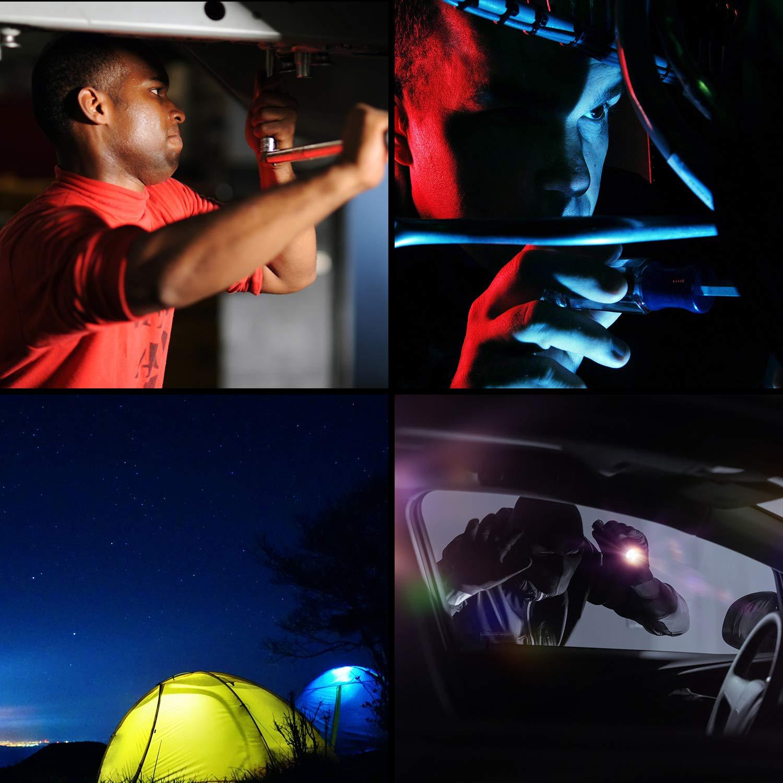 NIXKO Lampe torche tactique /étanche 12x Cree XML T6 LED Lampe torche 10000 lumens /à 3 modes pour la randonn/ée la chasse et autres activit/és int/érieures ou ext/érieures le camping