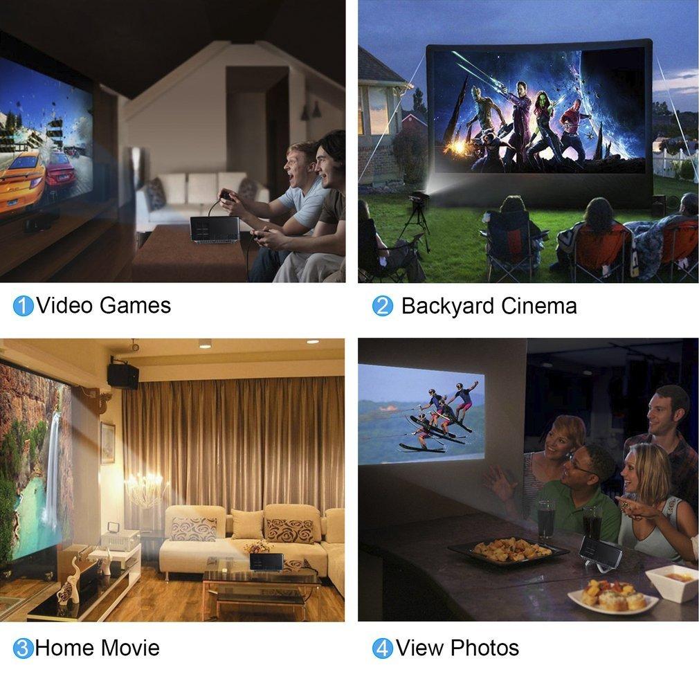 amazon com ocday gp80 projector 1800 ansi lumens portable video