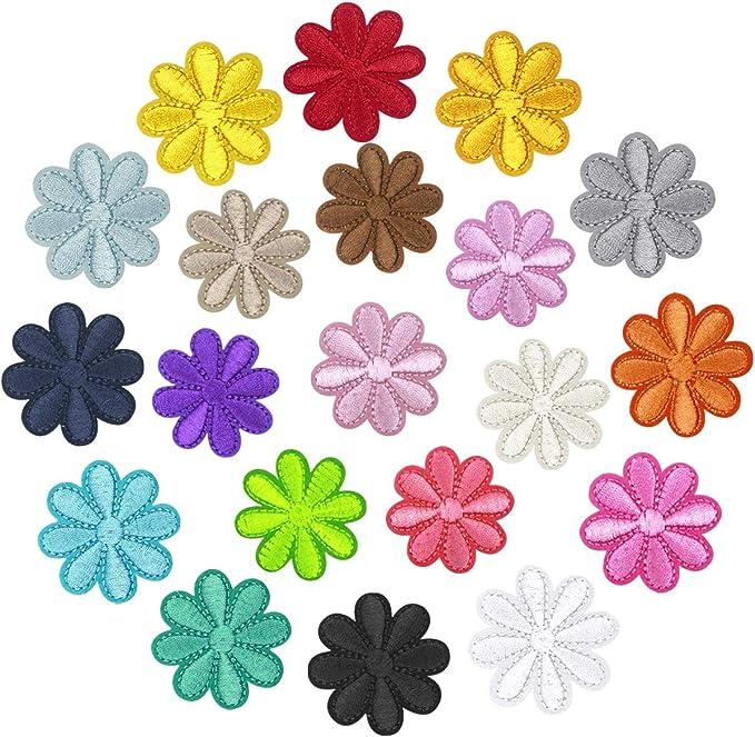 Bordado Hierro en Parches Coser-En Patch Sticker, Flores Pegatina de Parches Ropa Termoadhesivos, DIY Costura de Apliques para Ropa Mochila Gorras Chaqueta Bolsas (Dom Flor): Amazon.es: Hogar