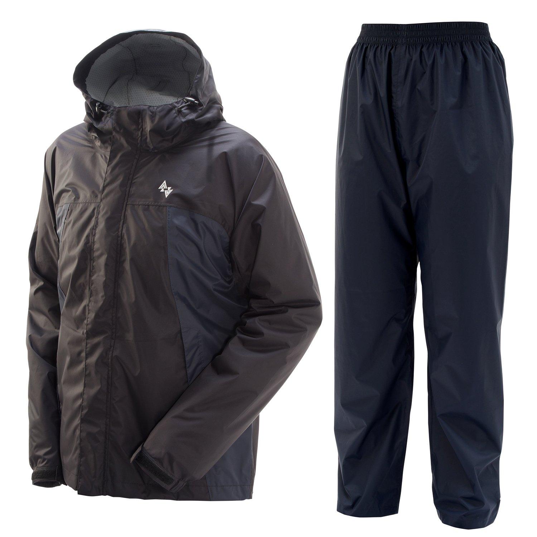 プレイン AAAパーフェクトレインスーツ 全6色 全4サイズ 上下スーツ ブラック LL 防水透湿 収納袋付き #01777-BLK-LL B010P6F7TMLL