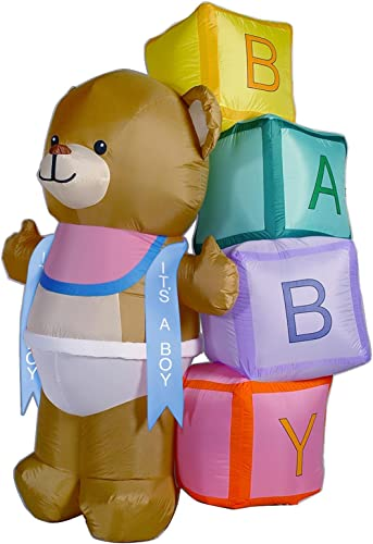 Airblown Teddy Bear with Blocks Banner
