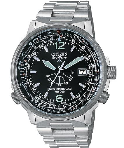 Citizen AS2020-53E - Reloj analógico de Cuarzo para Hombre, Correa de Acero Inoxidable: Amazon.es: Relojes