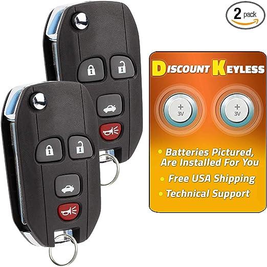 2 Remote For 2005 2006 2007 2008 2009 2010 Pontiac G6 Keyless Flip Key Fob 034