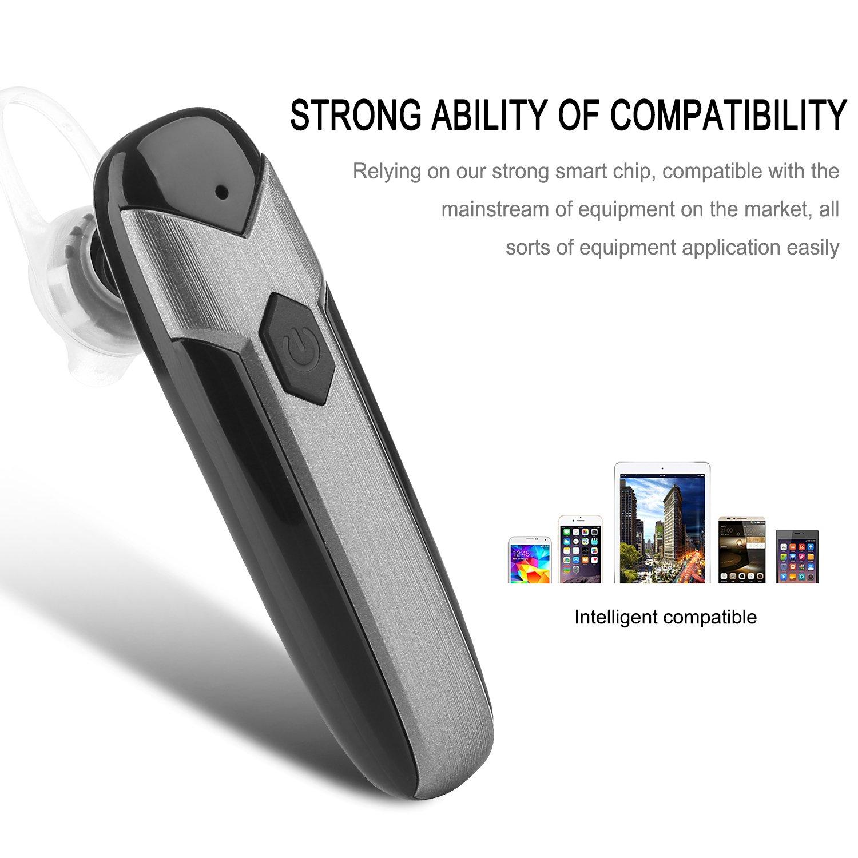 Q-YEE Bluetooth Headset, Auriculares inalámbricos Auriculares con micrófono y cancelación de ruido con micrófono para iPhone y Android: Amazon.es: ...
