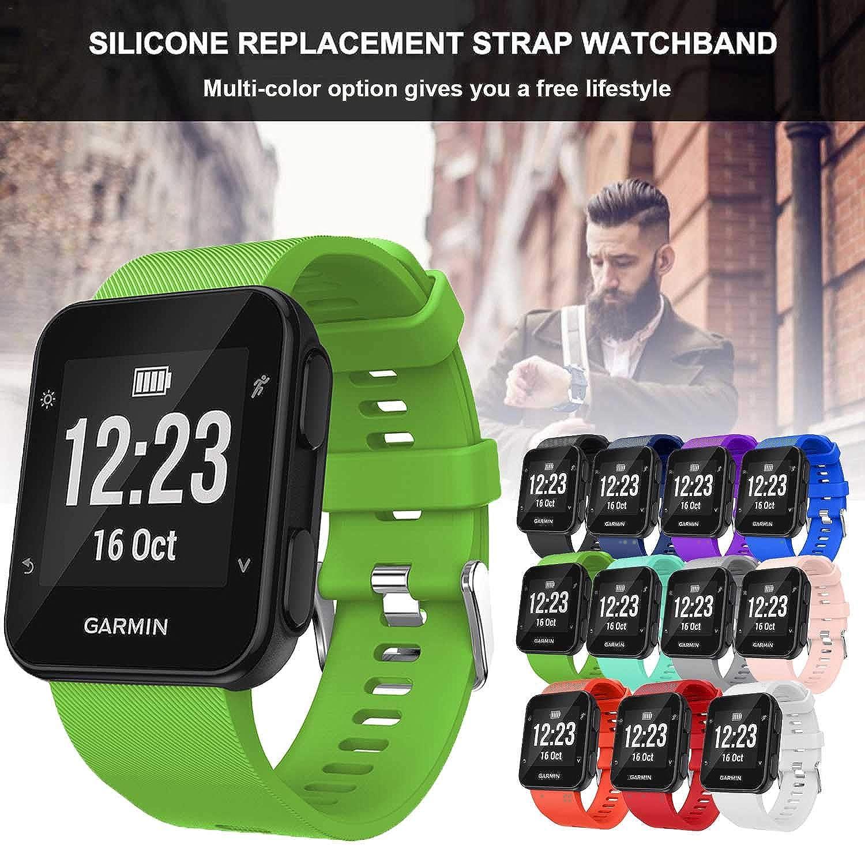 adatto per polsi da 130-230 mm GVFM cinturino compatibile con Garmin Forerunner 35 cinturino di ricambio in morbido silicone per smartwatch Garmin Forerunner 35