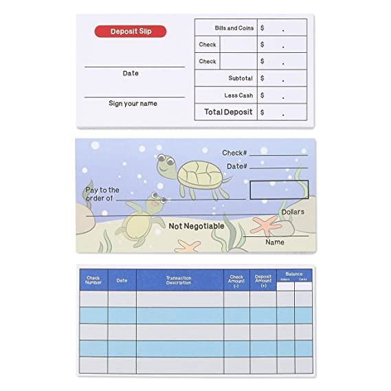 Learning Resources LER2656 Pretend /& Play Checkbook Checks