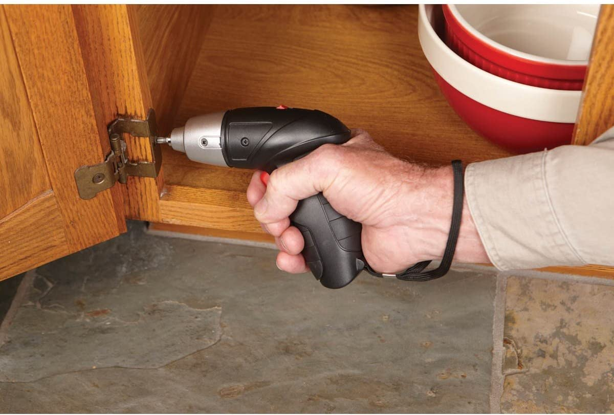 4.8 Volt 1//4 Inch Cordless Screwdriver Kit with Built-in LED Light; Forward and Reverse Operation