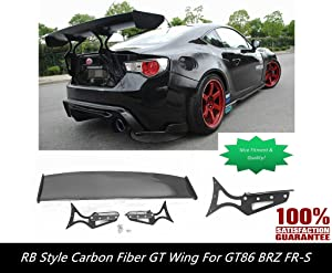 GT86 BRZ GT Style Carbon Fiber Wing Spoiler [with CNC Aluminum Brackets Get it Now!] GT86 GT Wing