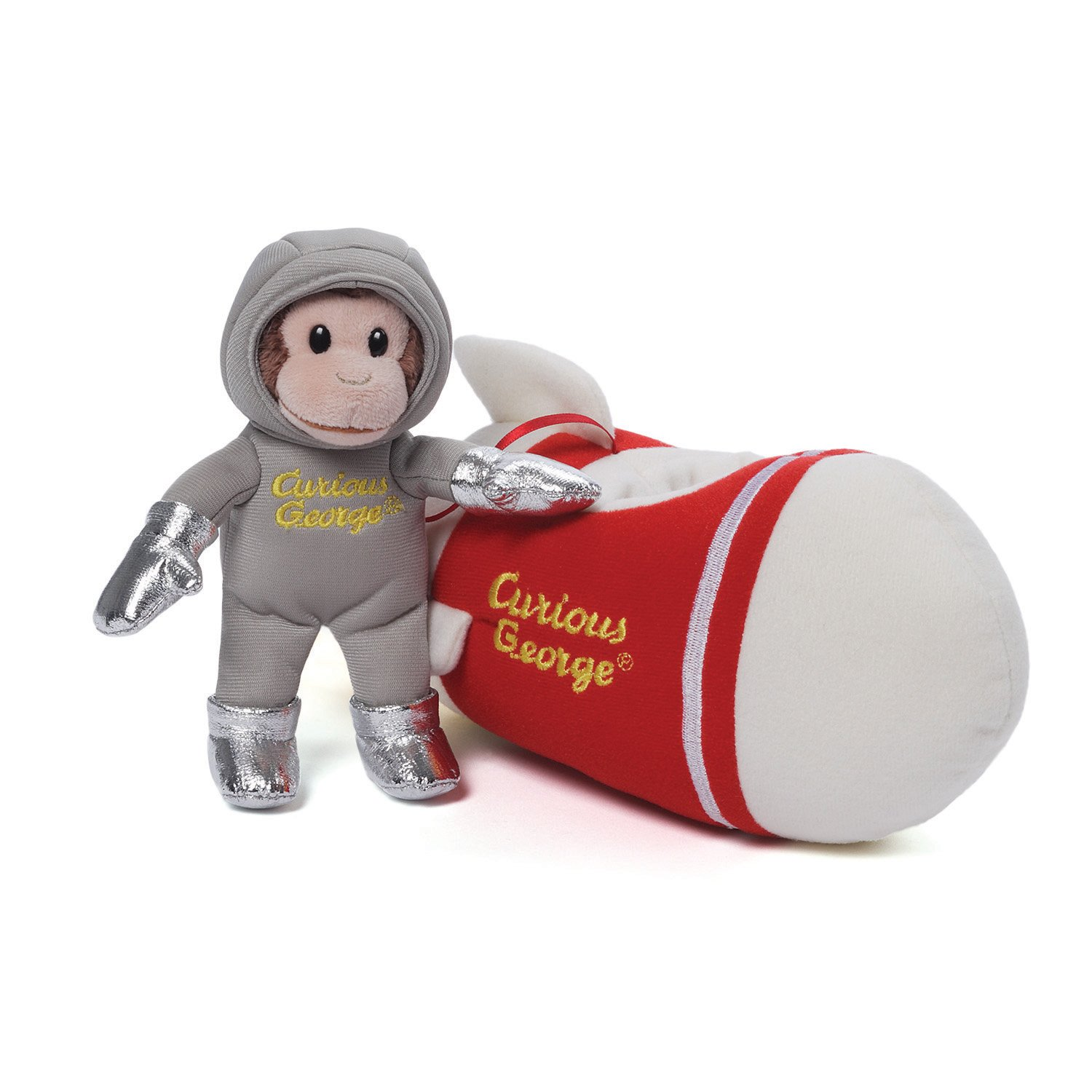 Amazoncom Curious George in Rocket Ship Sound Toy 8 Toy Toys