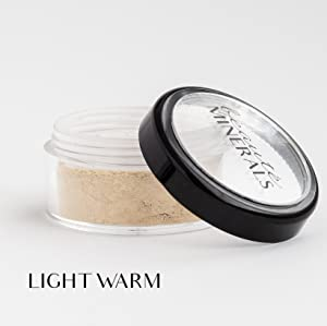 Mineral Foundation, Natural, Cruelty free, Full coverage foundation powder, Contains no gluten or parabens, by Beauté Minerals (Light Warm)