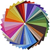 Outus Multicolor Polyester Felt Fabric Sheets Patchwork Sewing DIY Craft, 40 Pieces, 6 by 4 Inches