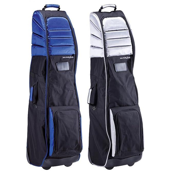 Silverline - Funda de viaje para bolsa de palos de golf negro/plateado negro / plata: Amazon.es: Deportes y aire libre