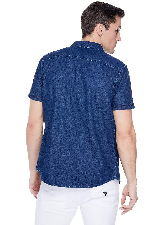GUESS Factory Mens Nixon Chambray Shirt