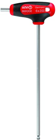JW Winco A47621 Nickel Plated Chrome Vandium Steel Blade Double Ball-Ended Hexagon Key with Comfortable Ergonomic Grip 185mm Length x 85mm Width 5mm Drive