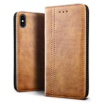 coque a rabat iphone x cuir
