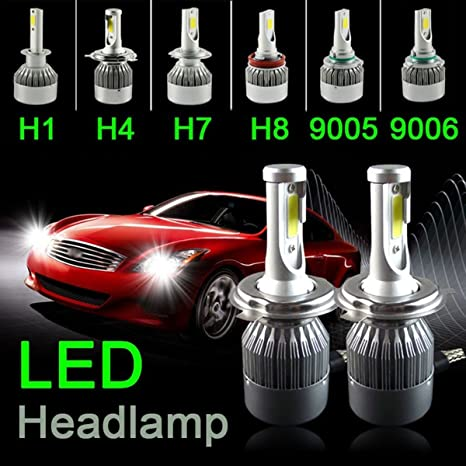1pcs C6 9005 coche LED bombillas para faros delanteros, 36 W 3800LM coche Kit de