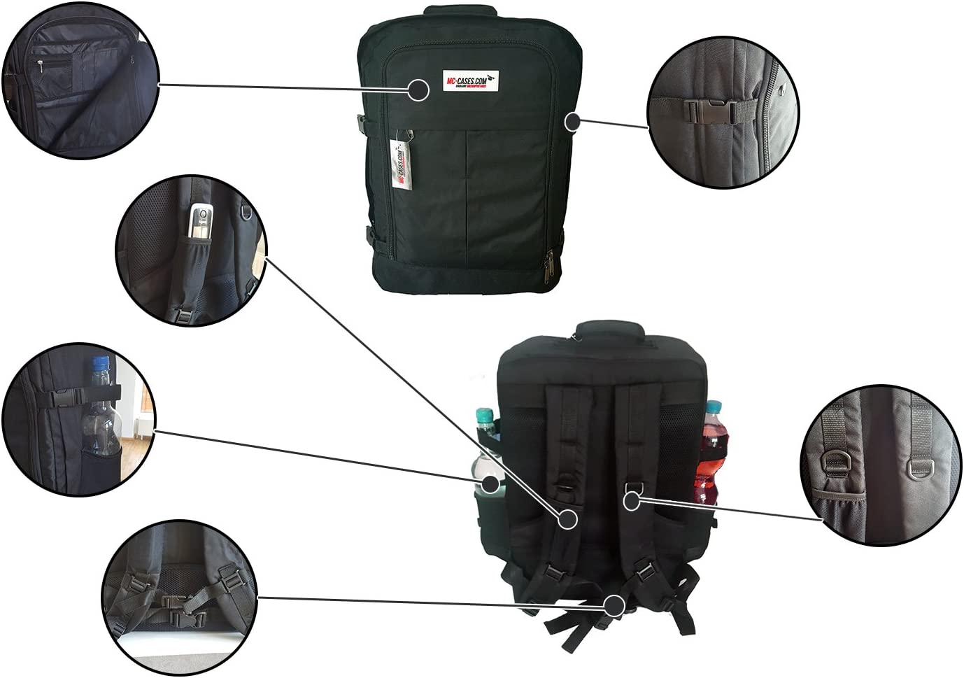 by MC-CASES with a lot of Space for Accessories Such as 3 Lenses Various Cables and adapters Backpack for Panasonic Lumix GH5