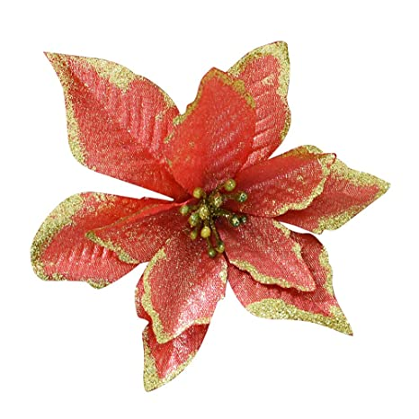 Buy 1 Piece of 13cm Glitter Artificial Christmas Flowers