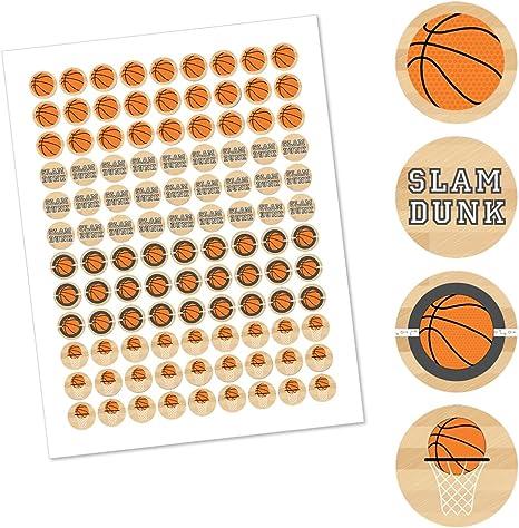 Basketball Hershey Kiss Labels 108 Basketball Hershey Stickers Birthday Favor