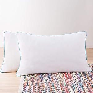 Linenspa 2 Pack Shredded Memory Foam Pillows - Moldable, Fluffable, Customizable - Universally Comfortable - King