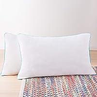 Linenspa 2 Pack Shredded Memory Foam Pillows - Moldable, Fluffable, Customizable - Universally Comfortable - Standard