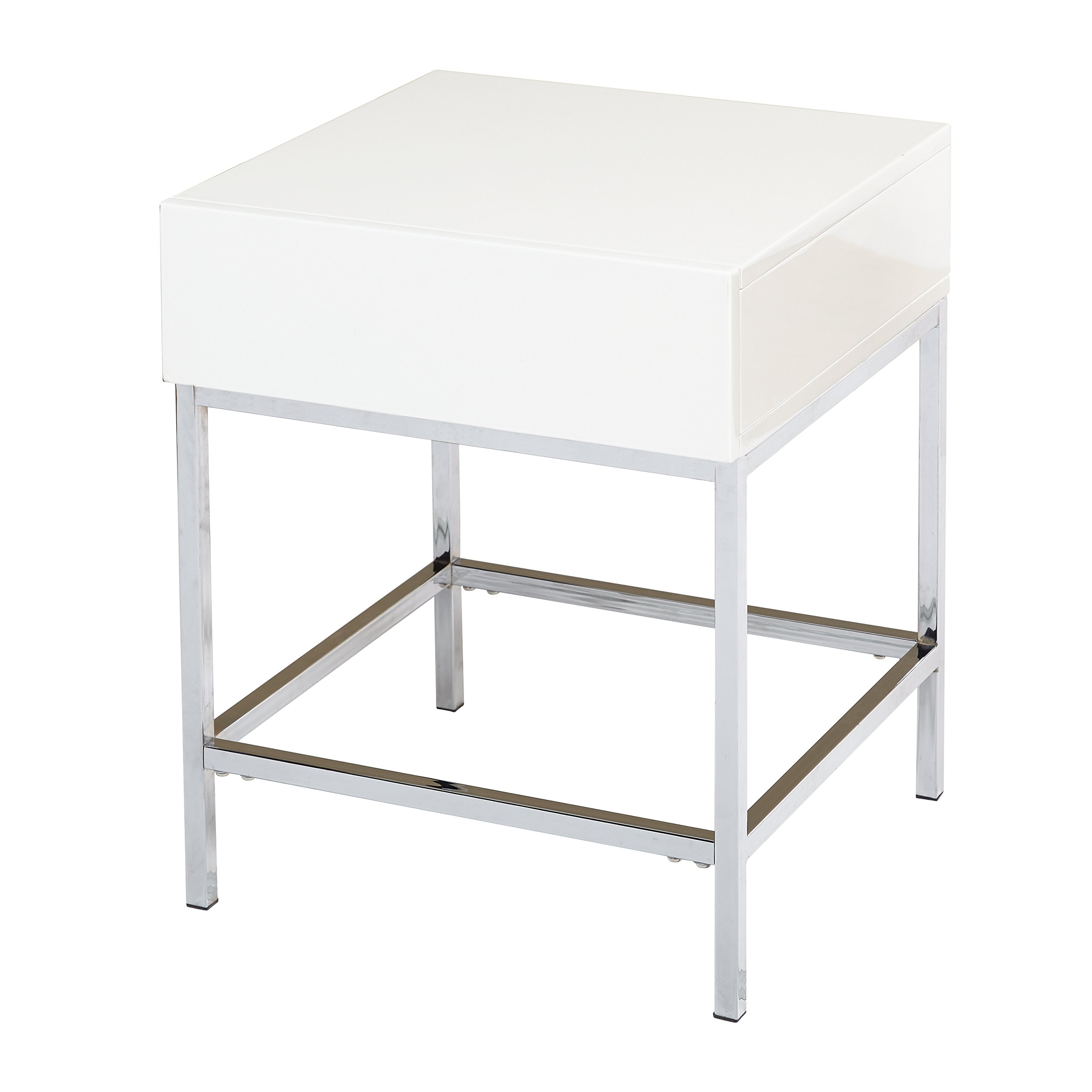 Target Marketing Systems 72401WHT End Table, White by Target Marketing Systems