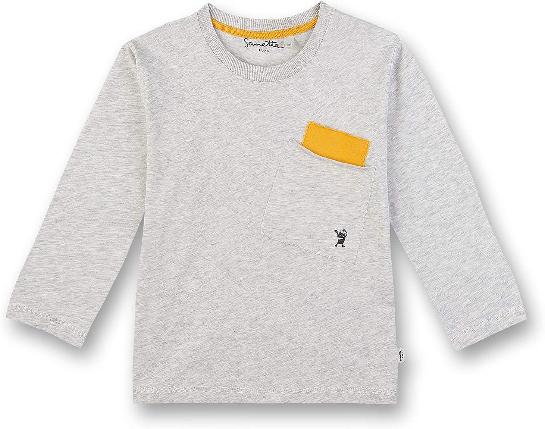 Sanetta Lot de 2 T-shirts /à manches courtes en coton bio pour gar/çon Fabriqu/é en Europe