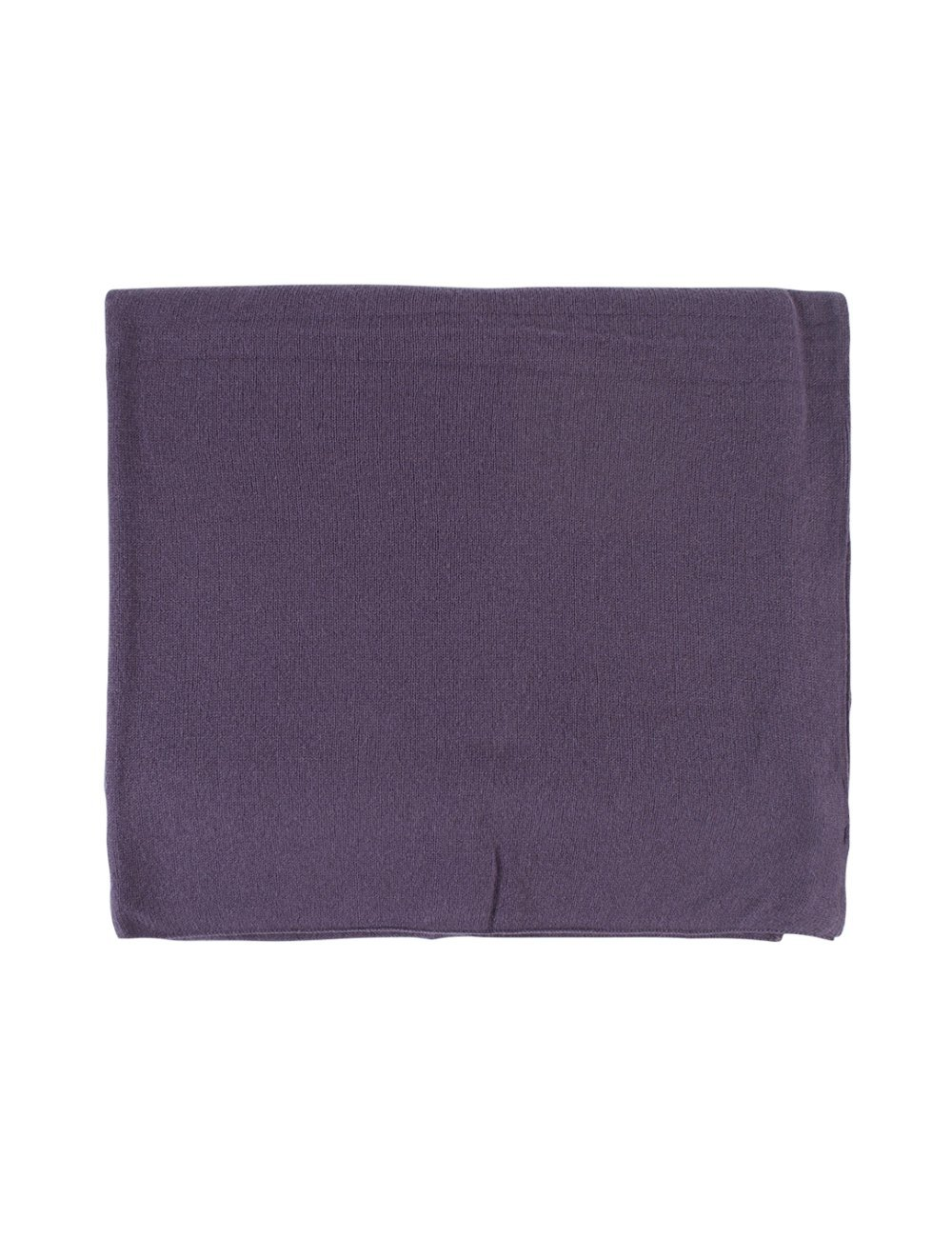 Great and British Knitwear Ladies 100 Percent Cashmere Plain Fine Knit Wrap. Made In Scotland-Plum