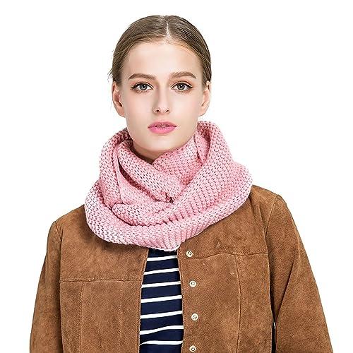 Bufandas Cuello Mujer - Tuopuda® Moda Mujeres Invierno Cálido Cable de punto cuello de la capucha de...