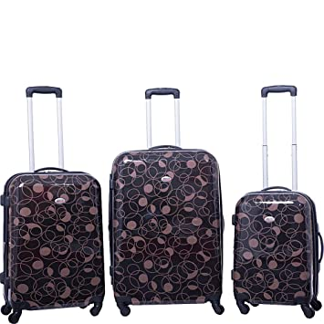 4f5756cdc Amazon.com | American Flyer Swirl 3 Piece Spinner Luggage Set (Chocolate) | Luggage  Sets