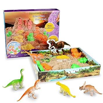 Weeygo Magic Sand Dinosaurio - Arena Mágica Cinética Animal Moldes Juego 500g - Manualidades con Arena Play Sand, Art Playset Regalo para Niños: Amazon.es: ...